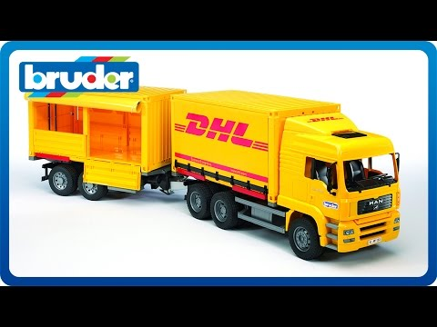 Bruder Toys Man Tga Dhl Truck With Trailer 02784 Youtube