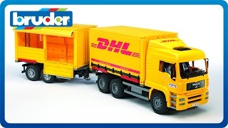 Bruder Toys MAN TGA DHL Truck with Trailer #02784