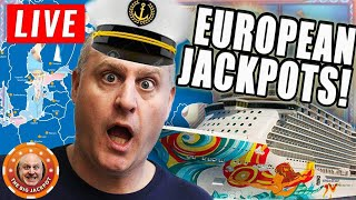 🔴Live HUGE European Jackpots at Sea! 🥐 The BIGGEST Wins on YouTube!