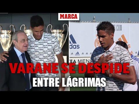 Download Varane se despide entre lágrimas: así fue su discurso a la plantilla, el abrazo de FlorentinoI MARCA