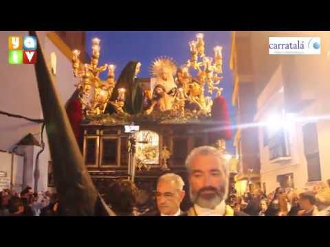 Salida de La Sagrada Mortaja Semana Santa Algeciras 2019 Viernes Santo