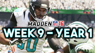 Madden 16 Jaguars Connected Franchise Year 1 - Week 9 @ Jets (Ep.9)