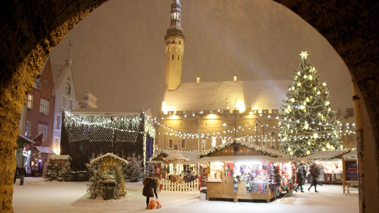 Best Christmas Markets in Europe  Tallinn Estonia  YouTube