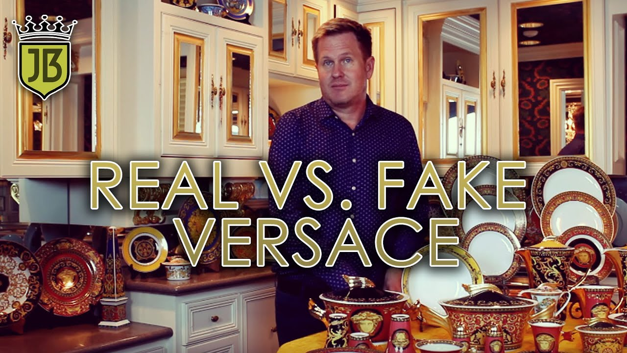 How To Tell Real From Fake Versace By James Bean Estate Sales Youtube