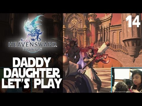 Final Fantasy XIV Daddy Daughter PS4 Let's Play 14   Her Trip In The Vault And Reaction After