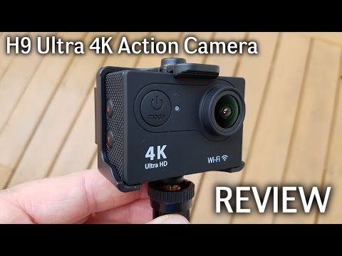 H9 Ultra 4K WiFi Action Camera REVIEW - Sample Videos included