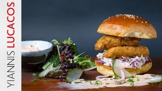 Crispy chicken burger | Yiannis Lucacos