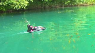 TNT RC X-Craft on a beautiful lake