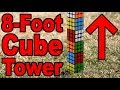 Building a GIANT Rubik's Cube TOWER!