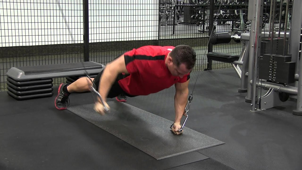 Cable Press With Push-Up