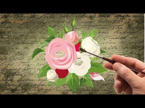 Букет роз (послойное рисование)