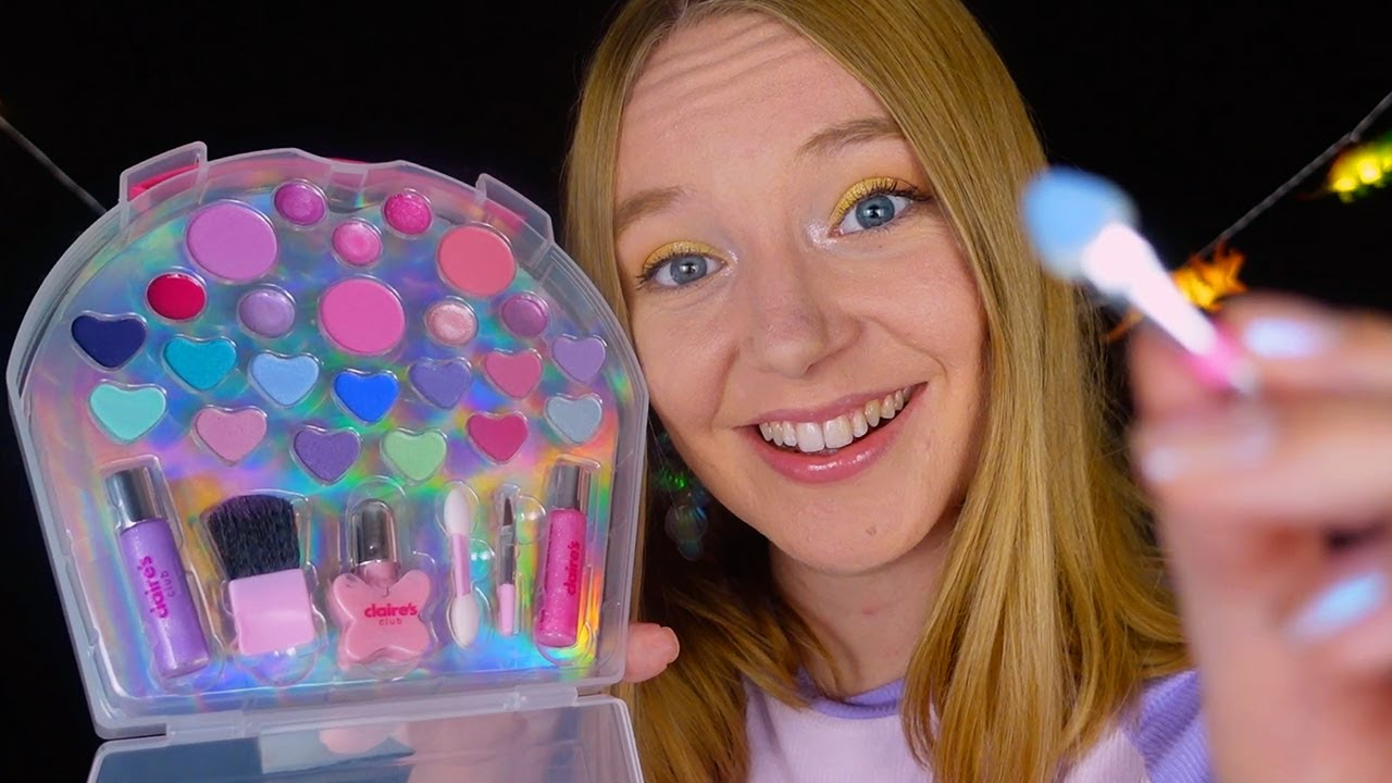ASMR Doing Your Makeup 🦄 Claire's Makeup (Whispered)