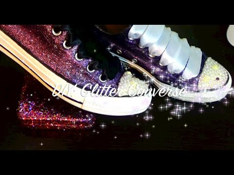 cd61ea69264d DIY Glitter Converse - YouTube