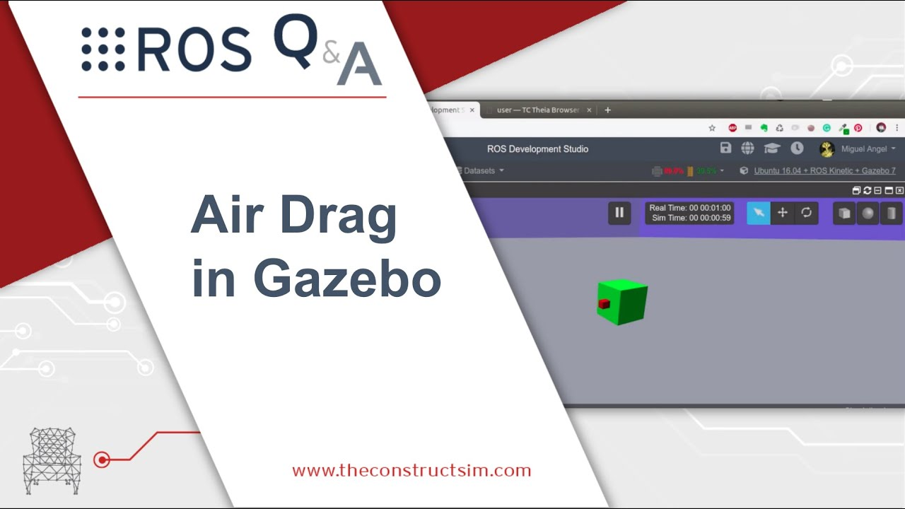 [ROS Q&A] 190 - Air Drag in Gazebo
