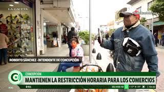 En Concepción se mantiene la restricción horaria para los comercios