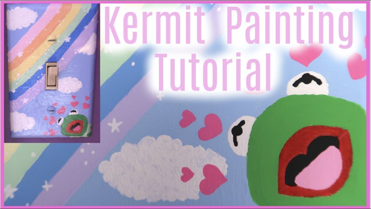 How To Drawpaint A Wholesome Kermit Meme Kermit With Hearts Step By Step Tutorial Tik Tok