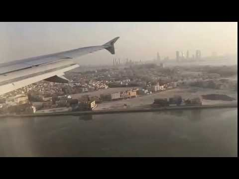 Amazing flight landing in Bahrain airport