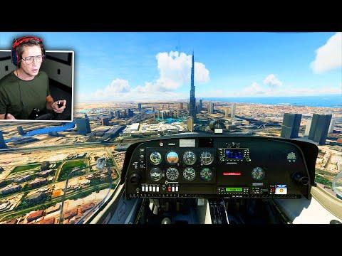 TALLEST BUILDING IN THE WORLD! (Flying around Dubai) - Microsoft Flight Simulator - Part 7