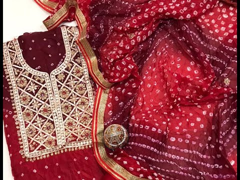 Attractive U0026 New Bandhani Traditional Materials With Heavy Gota Patti Embroidery (2021)