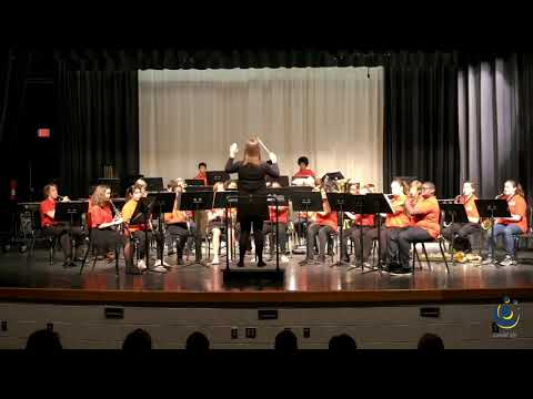 West Millbrook Middle School Concert Band performs Energy on 3/19/2019