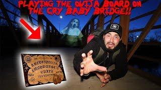 (GONE WRONG) OUIJA BOARD CHALLENGE ON THE HAUNTED CRY BABY BRIDGE | MOE SARGI