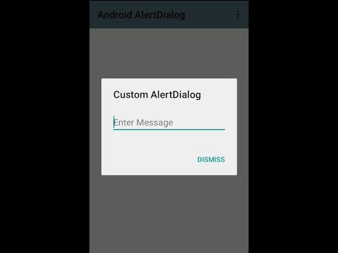 Android Custom Dialog and AlertDialog to Make User Decision Tutorial