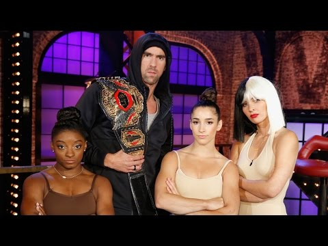 Simone and Aly Surprise Michael Phelps on Lip Sync Battle