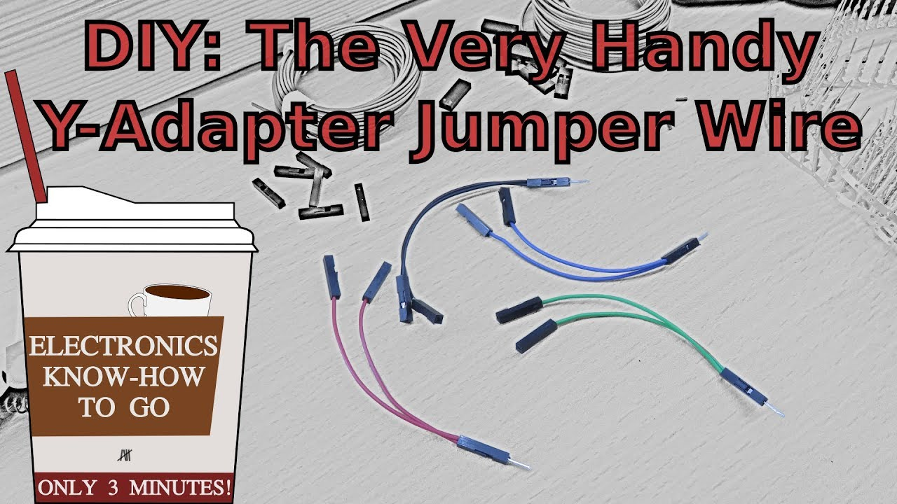 DIY: Y-shaped Jumper Wire | Electronics Know-how To Go #5 - YouTube