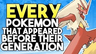 EVERY Pokemon That Appeared Before Their Generation (Anime and Movies)