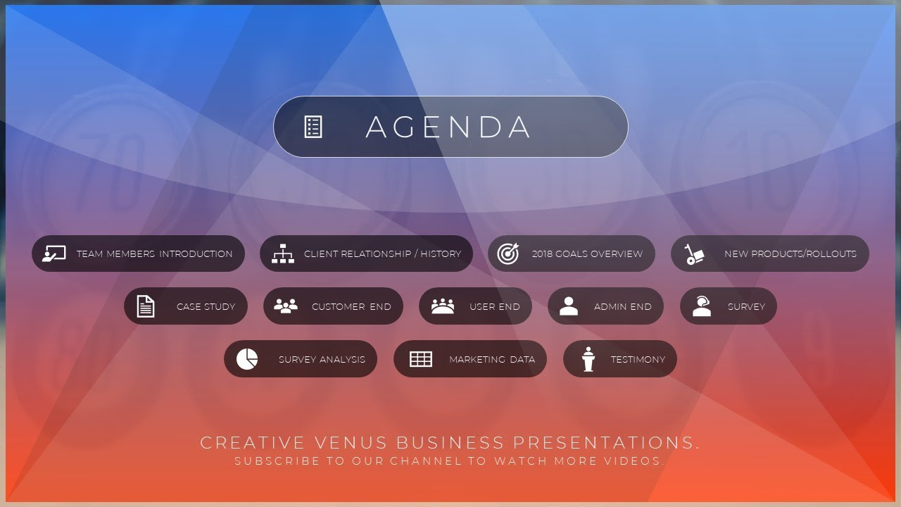 how to create a beautiful agenda slide in microsoft office