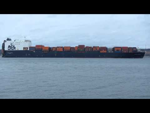 Atlantic Companion container ship departing Halifax NS