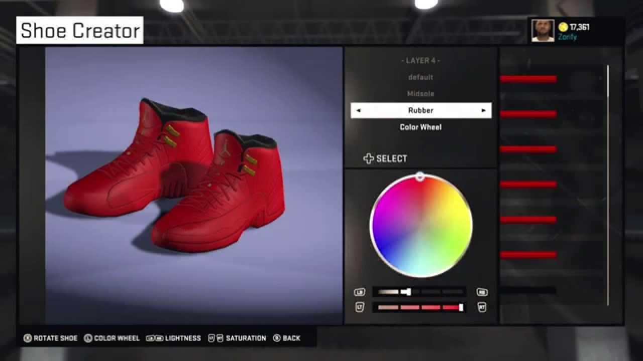free shipping b5a33 5bd2f ... promo code for nba 2k15 shoe creator air jordan 12 custom red october  357cb 85afa