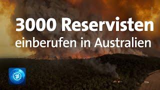 Brände in Australien: Reservisten der Armee einberufen