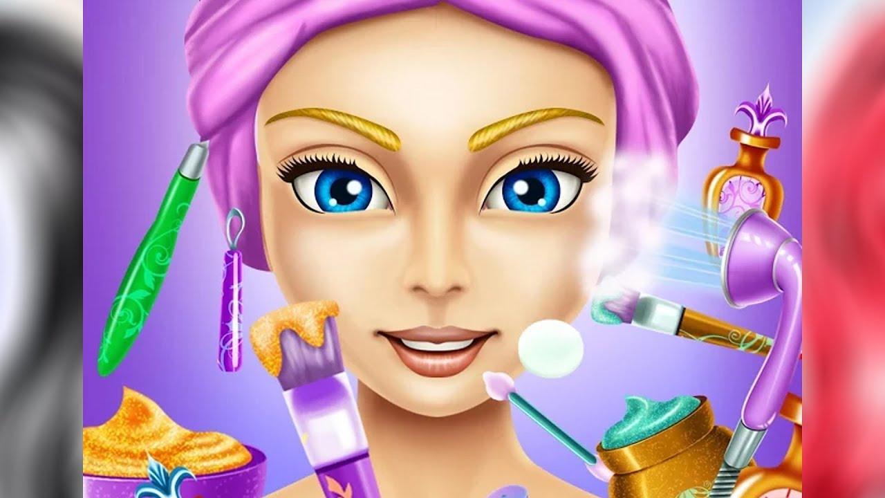 cartoon hair beauty baby makeup salon games
