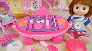 Baby doll pink beauty car play baby Doli house