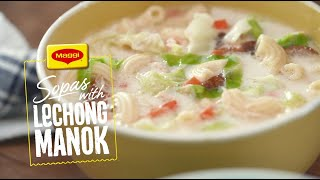 How to Cook Sopas with Lechong Manok with MAGGI