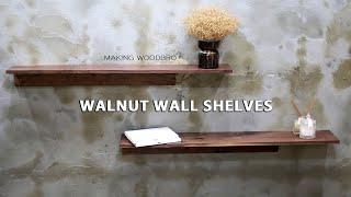 [목공]무지주스타일 월넛 벽 선반 만들기/making …