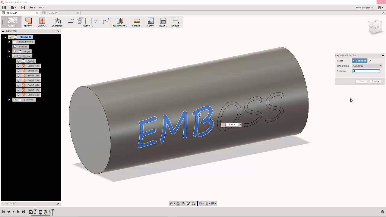 Embossing Text in Fusion 360 — Mechanical Advantage