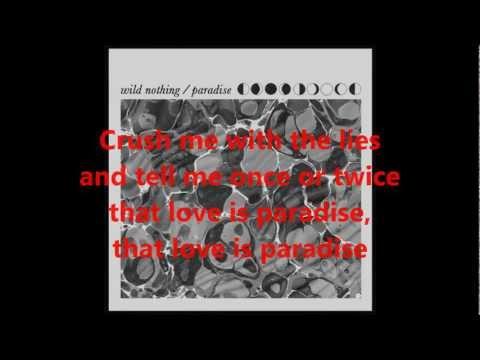 Wild Nothing   Paradise lyrics 720P