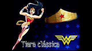 D.I.Y: Tiara clássica mulher maravilha