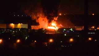 Пожар в Климовске 31.03.2013
