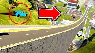 【実況】車をスキージャンプ台から落としてみたらヤバい記録がでたwww - BeamNGdrive