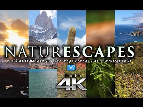 """6 HOURS of 4K Nature Scenes + Sounds for Relaxation: """"NATURESCAPES"""" World's Paradises"""