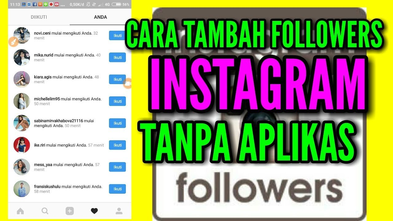 Tambah Followers Instagram Tanpa Aplikasi Link 2018 Youtube
