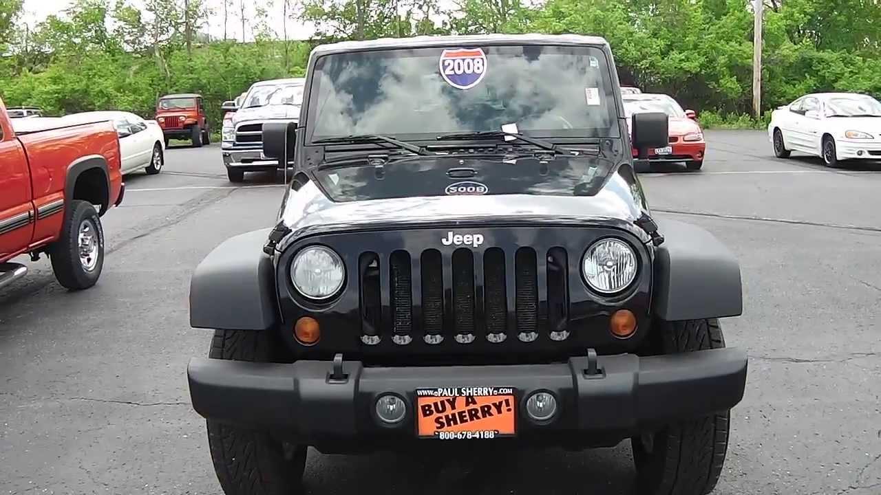 2008 jeep wrangler unlimited x suv black 4 door for sale dayton troy piqua sidney ohio. Black Bedroom Furniture Sets. Home Design Ideas