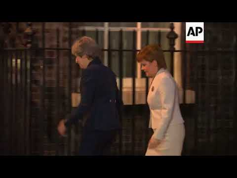 Scotland's First Minister arrives for talks with PM May