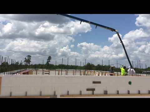 12' tall walls icf pour