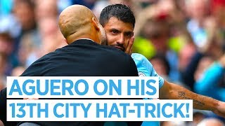 SERGIO AGUERO ON HIS 13TH HAT-TRICK FOR CITY | City 6 -1 Huddersfield