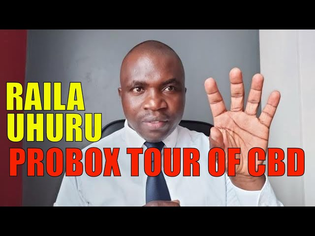 Uhuru - Raila Probox Tour of Nairobi CBD | William Ruto Bromance with the President