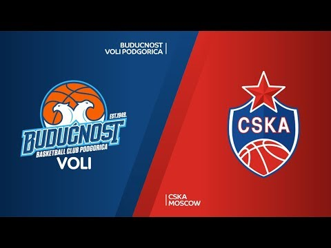 Buducnost VOLI Podgorica - CSKA Moscow Highlights | Turkish Airlines EuroLeague RS Round 9